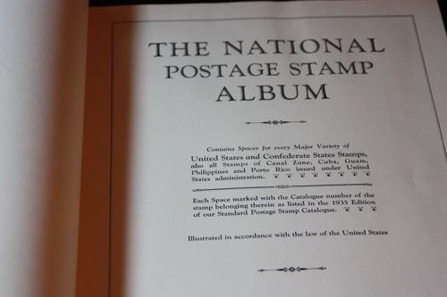 Postage stamp album