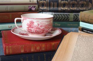 Tea on books