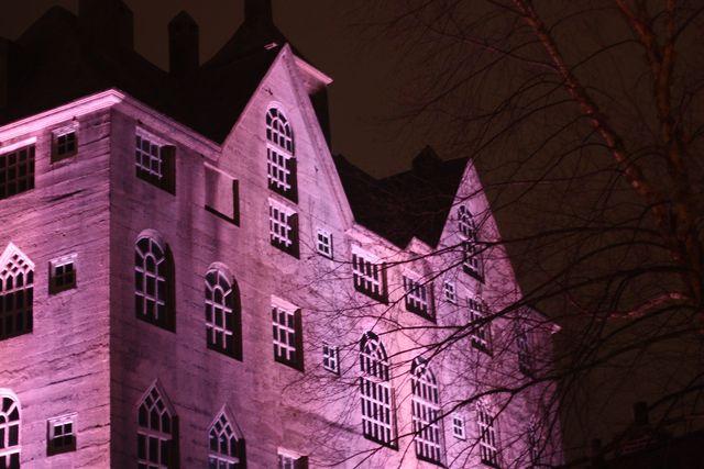 Mercer Museum at night