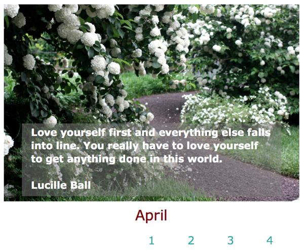 Square-Peg Calendar April 2015