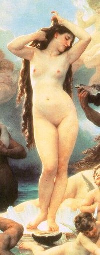 Aphroditerisingfromtheseabouguereau
